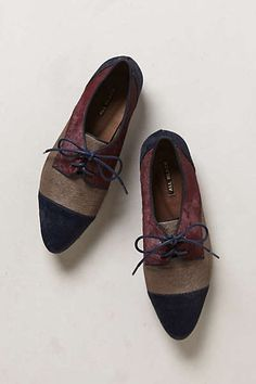 Anthropologie - Pointed Pony Hair Oxfords