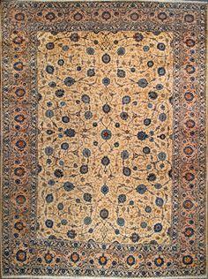 """Kashan Persian Rug - 9' 10"""" x 13' 7""""  $5,770.00"""