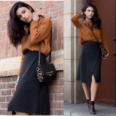 Get this look: http://lb.nu/look/8007784  More looks by Kristine Agabaian: http://lb.nu/krischerie  Items in this look:  Chicwish Ribbed Crop Sweater, Chicwish Gray Flap Midi Skirt, Carmen Steffens Leather & Leopard Crossbody Bag, Vince Camuto 'Raylan' Booties   #casual #minimal
