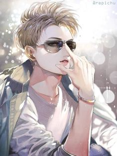 Fanart of Huang Zitao, Chinese rapper/singer and former member of EXO and EXO-M. Manga Boy, Manga Anime, Anime Art, Handsome Anime Guys, Hot Anime Guys, Anime Boys, Exo Fanart, Chibi, Rides Front