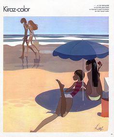 Edmond Kiraz 1978 Les Parisiennes, Kiraz-color, Bathing Beauty, Swimmer