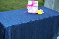 """50""""x50"""" Colorful Wedding Beautiful Sequin Table Cloth / Overlay /Cover Runners #sequintableclothsequintableclothFuchsia"""
