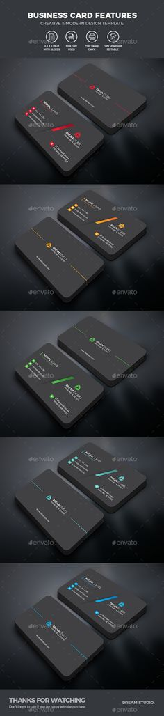 #simple #minimalist #dark #black #clean #creative #modern #professional #corporate #Business #Card #Template - Business #Cards #Print #design. download here: https://graphicriver.net/item/business-cards/20234051?ref=yinkira