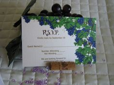Wine & Chocolate Rustic Vineyard Collection – R.S.V.P. card created by Above & Beyond – Custom Events & Stationery