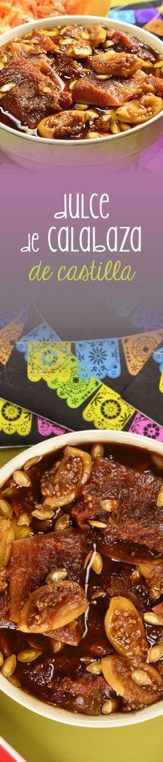 Este delicioso dulce de calabaza de castilla con piloncillo, guayabas y canela es típico para este día de muertos. Muy dulce y suave y además delicioso.