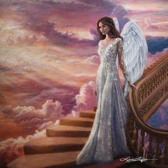 Stairway To Heaven ~ Paint Texture Print ~ Lindsay Rapp Artist - Lindsay Rapp Gallery