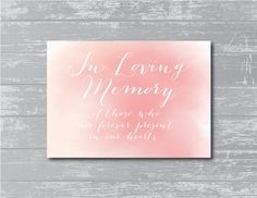 2014 Party Candles Ideas - INSTANT DOWNLOAD... In Loving Memory Sign 8x10