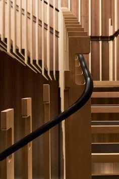 restaurant interieur Yen Restaurant in London by Sybarite Staircase Handrail, Interior Staircase, Staircase Design, Open Staircase, Staircase Remodel, Staircase Ideas, Staircases, Interior Handrails, Detail Architecture