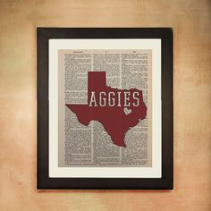 Aggies Dictionary Art Print