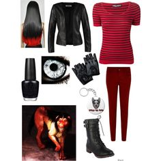 Creepypasta Smile Dog Outfit by ender1027 on Polyvore featuring Dolce&Gabbana, ONLY and OPI