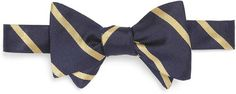 Brooks Brothers Blue and Gold Bow Tie