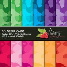 Camo Digital Paper pack, printable, great for scrapbooking and more. For sale for $1.50 at my shop on Etsy.com. :)