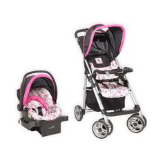 Disney Baby Amble Quad Travel System with OnBoard 22 Infant Car Seat