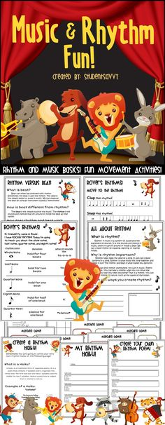 Music & Rhythm activities! My students are going to love this!