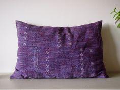 Kimono pillow purple vintage handmade Octavi geometric by Octavi
