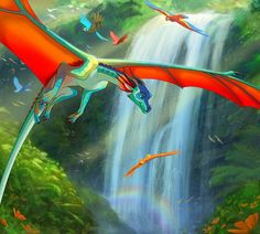 Explore the Wings of Fire collection - the favourite images chosen by Diableos-Auros on DeviantArt. Mythological Creatures, Fantasy Creatures, Mythical Creatures, Wings Of Fire Dragons, Cool Dragons, Dragon Artwork, Dragon Drawings, Manga Dragon, Dragon Sketch