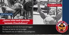 Al realizar press de banca tus pulgares son tu seguro de vida.  #Salud #Nutrición #Cardio #Musculacion #Culturismo #Fitness #Gym #ComeSano #SweatGym #SoySweatGym #TerritorioSweatGym #MrSweat #SweatGymxVenezuela #ejercicio #fisicoculturismo