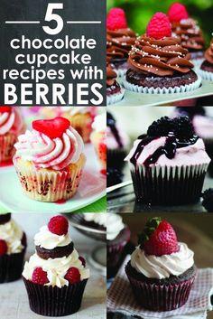 5 Chocolate cupcake recipes with berries - Naturipe Farms