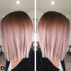 Gold Hair Colors, Ombre Hair Color, Hair Color Balayage, Hair Highlights, Balayage Ombre, Gold Colour, Rose Gold Hair Colour, Hair Bayalage, Cabelo Rose Gold
