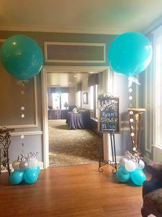Boy baby shower balloons #decoracionbabyshowerboy