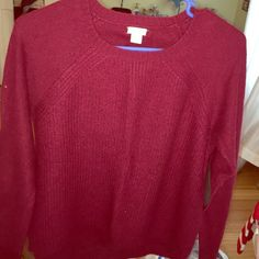 insanely soft J crew wool sweater! super cute and warm maroon sweater from J Crew. I wore this literally one time. No pilling or Damage. 28% wool, 37% viscose, 35% nylon and fake leather elbow pads J. Crew Tops Blouses
