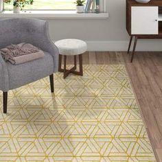 Langley Street Ginsberg Yellow Area Rug. #yellowarearugs #rugs #yellow #afflnk