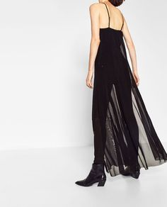 Image 3 of LONG DRESS WITH INTERIOR BODYSUIT from Zara