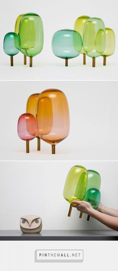 The Woods glass sculptures by StokkeAustad and Andreas Engesvik - created via https://pinthemall.net