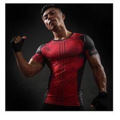 Short Sleeve T Shirt Men T-Shirt Male Crossfit Tops Punisher Crossfit Tees Superman tshirt Fitness Compression Shirt MMA 3d T Shirts, Gym Shirts, Workout Shirts, Marvel C, Deadpool Costume, Super Hero Shirts, Superman T Shirt, Superhero Superman, Superhero Store