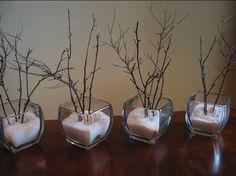 la decoración de mis mesas: Un centro de mesa invernal