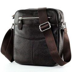 2016 Fashion brand small men bag high quality men's Messenger Bag Genuine Leather Retro Brown men bags Business shoulder bag #women, #men, #hats, #watches, #belts, #fashion