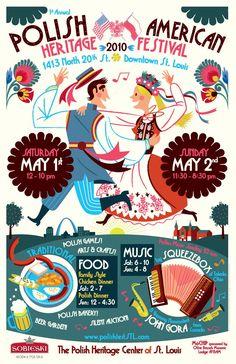 Polish folk art-inspired poster