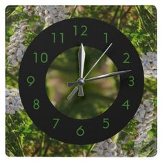 Late Day Glory Fractal Wall Clock