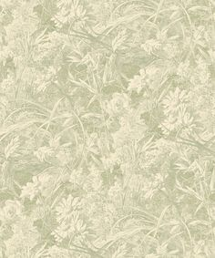 Liberty Furnishing Fabrics Sage Royal Daisy Wallpaper | Home | Liberty.co.uk