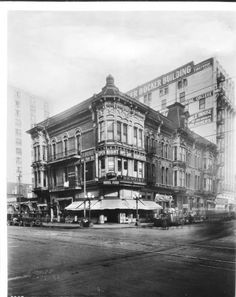 Bank of Italy Building on the northwest corner of Seventh Street and Olive Street, Los Angeles, 1921.