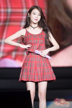 IU encore concert chat shire photo time by Mr. Stage Outfits, Kpop Outfits, Korean Actresses, Korean Actors, Iu Fashion, Korean Fashion, Korean Girl, Asian Girl, Korean Celebrities
