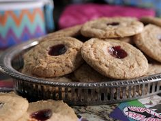 Peanut Butter and Jelly Cookies recipe from Damaris Phillips via Food Network