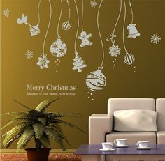Christmas ball  Wall Decal- merry christmas wall stickers-christmas ball wall vinyl for holidays decal Christmas And New Year, Christmas Is Coming, Christmas Angels, Christmas Balls, Christmas Diy, Merry Christmas, Christmas Chalkboard Art, Christmas Window Display, Window Stickers