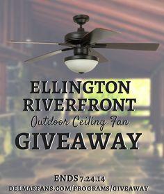 Ellington Riverfront Outdoor Ceiling Fan Giveaway   Del Mar Fans