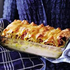 Recept - Preicannelloni met ham - Allerhande Bastilla, Pasta, Ovens, A Table, Foods, Homemade, Meat, Ethnic Recipes, Lasagna