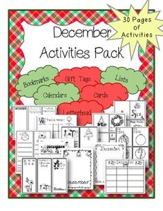Drum roll please! The highly anticipated and amazing December / Winter Holiday Activities Packet from The Resourceful Teacher is finally here!This packet features some of the best teaching materials to use in your classroom this holiday season. Choose from 30 different activities for your students.December Activities Packet Includes:- Calendars- Lists- Writing Pages- Cards- Gift Tags- Bookmarks- Letterhead- Winter & Christmas ~~~~~~~~~~~~~~~~~~~~~~~~~~~~~~~DON'T MISS THESE FREEBIES!- Cont...