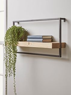 NEW Wood & Metal Frame Shelf – Shelves & Hook Racks – Small Storage – Storage Small Storage Shelves, Plastic Shelves, Cube Shelves, Floating Shelves, Metal Storage Racks, Shelf Hooks, Frame Shelf, Wall Shelf Decor, Hallway Furniture