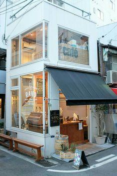 Ravo bake coffee, kobe, japan cafe shop design trong 2019 небольшое кафе, м Cafe Shop Design, Small Cafe Design, Cafe Interior Design, Brewery Interior, Japan Interior, Small Coffee Shop, Coffee Store, Coffee Shop Japan, Japan Shop