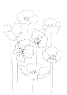 On aime la finesse de ce dessin floral. Essayez en un de votre cru grâce à la technique du Zendoodle!