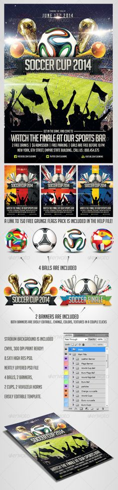 Soccer Flyer | Flyer Template, Fonts And Event Flyers