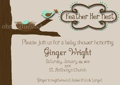 nesting baby shower invitations | Request a custom order and have something made just for you.