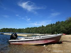 The Charlie Brown waits to tow the Sandy Beach dock to Phillips Island for the off-season at #Yawgoog.  Image by David R. Brierley.