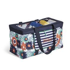 Thirty One Large Utility Tote in Paradise Pop with Navy Wave...take it shopping, to the park, beach or on a trip! Thirty-One June Customer Special Spend $35 and purchase a Large Utility Tote for $10 #ThirtyOne #ThirtyOneGifts