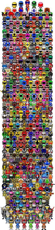 Super Sentai,  Kamen Riders,  Space Sheriff's, Metal Rangers, Akibaranger.  Can you name them all?
