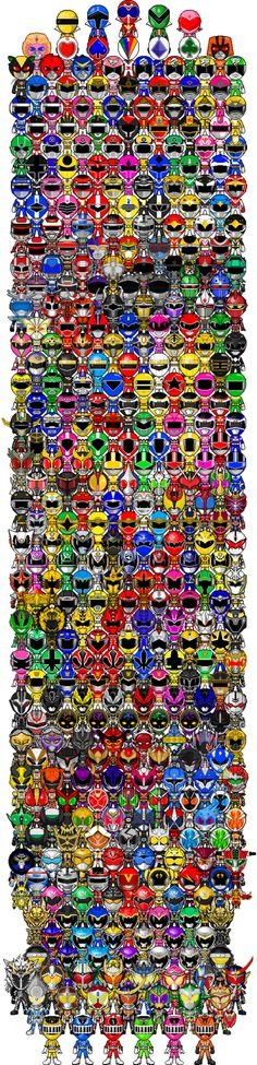 Super Sentai,  Kamen Riders,  Space Sheriff's, Metal Rangers, Akibaranger.  Can you name them all?